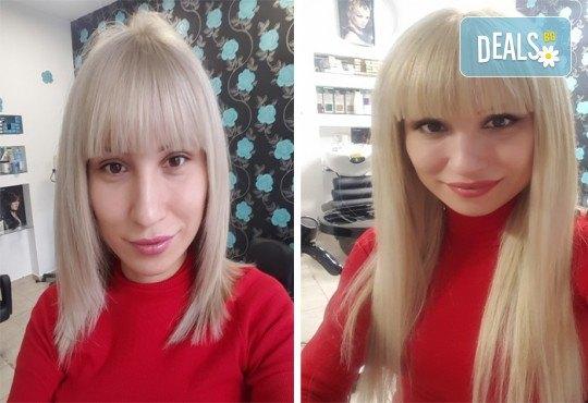Дълга и гъста коса! Поставяне на собствени екстеншън с капси или поддръжка в салон за красота Суетна! - Снимка 6