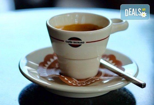Започнете деня с чаша кафе Cafes Richard Maragogype или чай Cuida Te + екзотичен кокосов трюфел или лешников бонбон от бутик KafeMania! - Снимка 1
