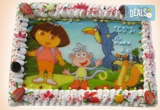 Сладкарница Орхидея сбъдва детските мечти! Поръчайте торта със снимка - Миньоните, Мечо Пух, Макуин, Елза или с Ваша снимка! - Снимка 26