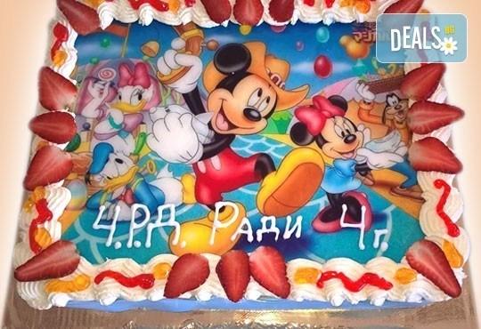 Сладкарница Орхидея сбъдва детските мечти! Поръчайте торта със снимка - Миньоните, Мечо Пух, Макуин, Елза или с Ваша снимка! - Снимка 17