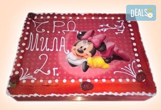 Сладкарница Орхидея сбъдва детските мечти! Поръчайте торта със снимка - Миньоните, Мечо Пух, Макуин, Елза или с Ваша снимка! - Снимка 21