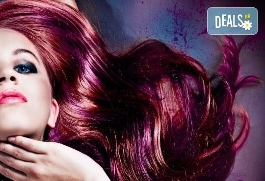 Боядисване с боя на клиента, подстригване, масажно измиване, подхранваща маска и оформяне със сешоар в салон за красота Феникс! - Снимка 1