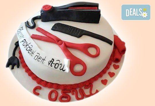 Торта за професионалисти! Вкусна торта за фризьори, IT специалисти, съдии, футболисти, режисьори, музиканти и други професии от Сладкарница Джорджо Джани! - Снимка 3