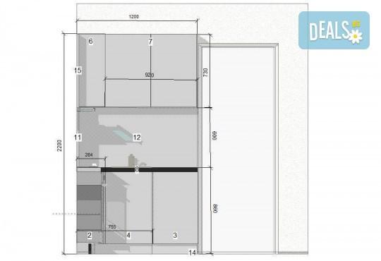 Специализиран 3D проект за дизайн на мебели и бонус: отстъпка за изработка на мебелите от производител, от Christo Design LTD! - Снимка 17