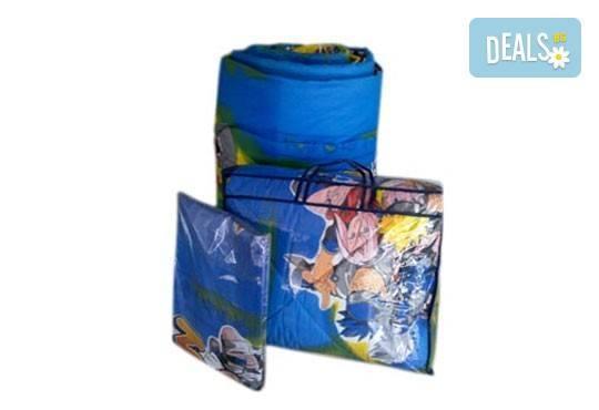 Само сега на още по-изгодна цена! Единичен комплект спално бельо Наруто/ комплект с олекотена завивка и подарък, 100% ранфорс, антиалергична вата - Снимка 2