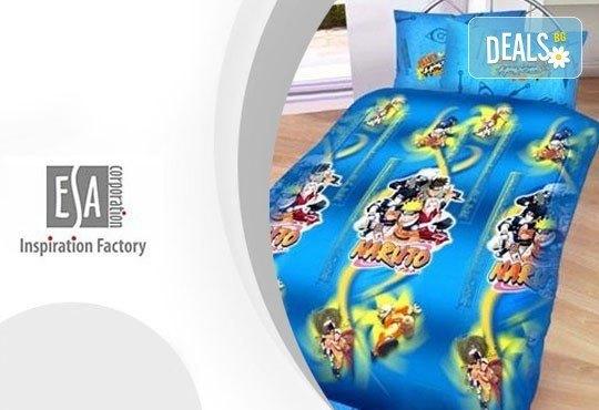 Само сега на още по-изгодна цена! Единичен комплект спално бельо Наруто/ комплект с олекотена завивка и подарък, 100% ранфорс, антиалергична вата - Снимка 1