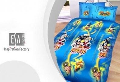 Само сега на още по-изгодна цена! Единичен комплект спално бельо Наруто/ комплект с олекотена завивка и подарък, 100% ранфорс, антиалергична вата - Снимка