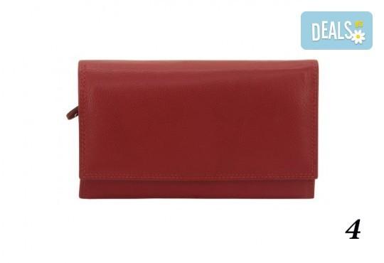 Дамско портмоне от естествена кожа с RFID защита за безконтактни кредитни карти на Friedrich - Снимка 9