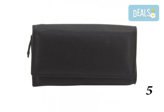 Дамско портмоне от естествена кожа с RFID защита за безконтактни кредитни карти на Friedrich - Снимка 11