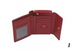 Дамско портмоне от естествена кожа с RFID защита за безконтактни кредитни карти на Friedrich - Снимка
