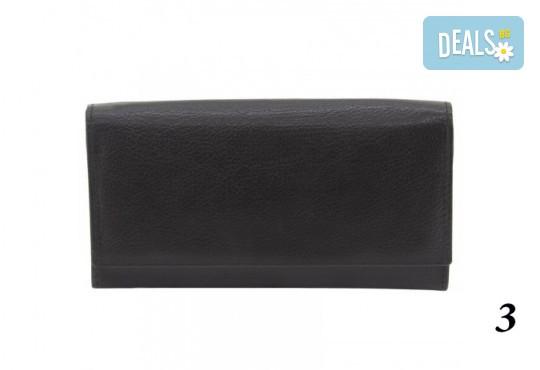 Дамско портмоне от естествена кожа с RFID защита за безконтактни кредитни карти на Friedrich - Снимка 7