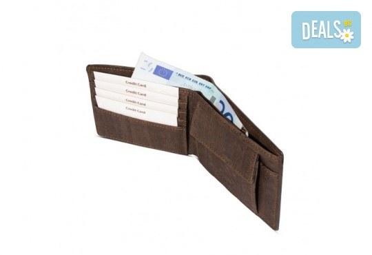 Луксозен мъжки RFID портфейл от естествен корк на CorkOr, Португалия, ръчна изработка! - Снимка 7