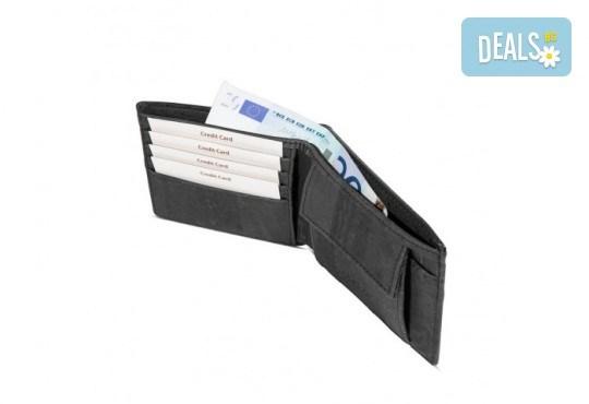 Луксозен мъжки RFID портфейл от естествен корк на CorkOr, Португалия, ръчна изработка! - Снимка 9