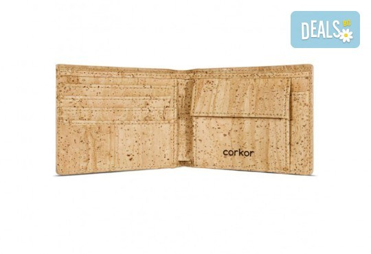 Луксозен мъжки RFID портфейл от естествен корк на CorkOr, Португалия, ръчна изработка! - Снимка 3