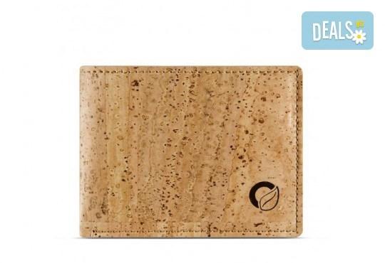 Луксозен мъжки RFID портфейл от естествен корк на CorkOr, Португалия, ръчна изработка! - Снимка 2