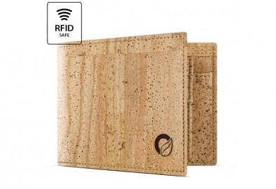 Луксозен мъжки RFID портфейл от естествен корк на CorkOr, Португалия, ръчна изработка! - Снимка