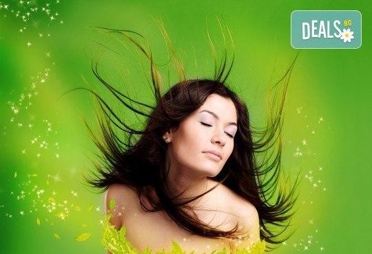 Високоефективна терапия за коса, масажно измиване с нанасяне на кератинова маска, подстригване и сешоар в салон Flowers 2! - Снимка 2
