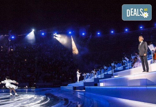 """Ексклузивно в Кино Арена! Прожекция на шоу-спектакъла на лед """"Легенда за красотата"""" с участието на Андреа Бочели, 8 и 10 март, в зали PREMIUM и LUXE, в страната - Снимка 5"""