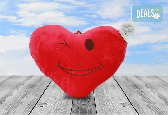 Изненадайте своята половинка на празника! Подарете плюшена възглавничка сърце или калинка и ефектен фолио балон с хелий, от Парти магазин Рая! - Снимка 3