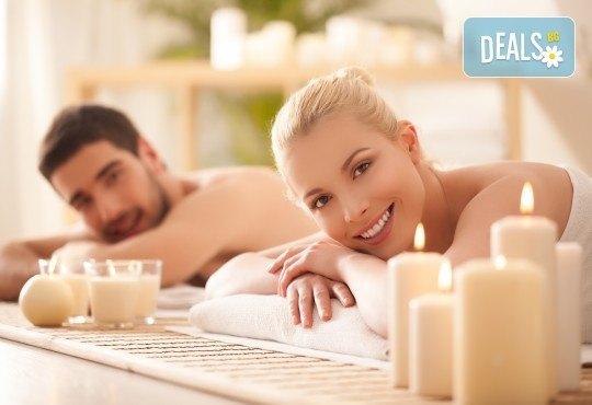 Синхронен масаж за двама с камъни от хималайска сол (сърца или кръгли), 30 минути релакс в хималайска стая и инхалации в Senses Massage & Recreation! - Снимка 2