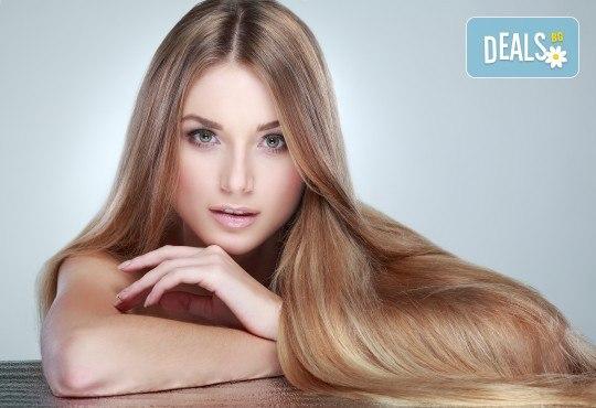 Красива коса! Арганова или кератинова терапия и оформяне на прическа със сешоар в студио за красота Jessica! - Снимка 1