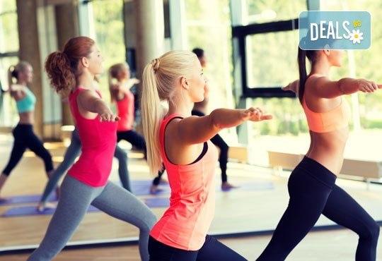 За дамите! 3 посещения на фитнес на пилон, пилатес, тае бо, аеробика или fat fight в Център за спорт и рехабилитация Визайн! - Снимка 1