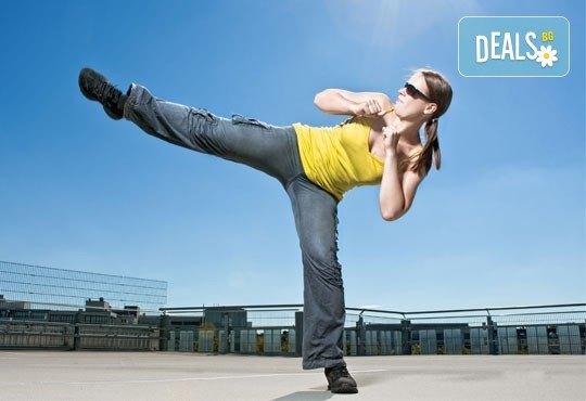 За дамите! 3 посещения на фитнес на пилон, пилатес, тае бо, аеробика или fat fight в Център за спорт и рехабилитация Визайн! - Снимка 3