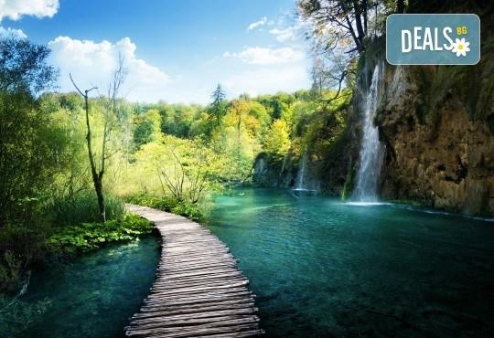 Пролет в Хърватия! 3 нощувки със закуски и вечери в хотел 2/3* на о-в Крк, транспорт и посещение на Плитвичките езера и Загреб - Снимка 1