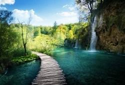Пролет в Хърватия! 3 нощувки със закуски и вечери в хотел 2/3* на о-в Крк, транспорт и посещение на Плитвичките езера и Загреб - Снимка
