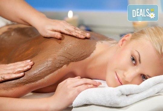 Релаксираща СПА терапия с шоколад и френска био козметика Blue Marine - дълбоко релаксиращ масаж на цяло тяло, шоколадов ексфолиант на гръб и шоколадова маска в Anima Beauty&Relax! - Снимка 3