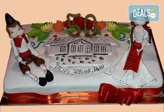 За почитателите на българската музика и фолклор! Едноетажна торта с 25 парчета от Сладкарница Джорджо Джани! - Снимка 1