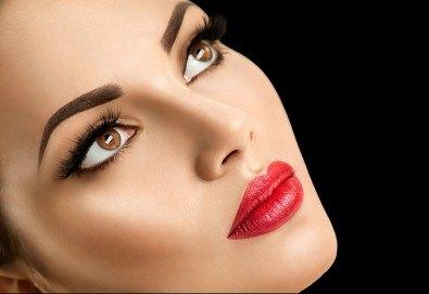 Перфектно оформени вежди чрез микроблейдинг по метода косъм по косъм и бонус: отстъпка от ретуш от Beauty center D&M! - Снимка