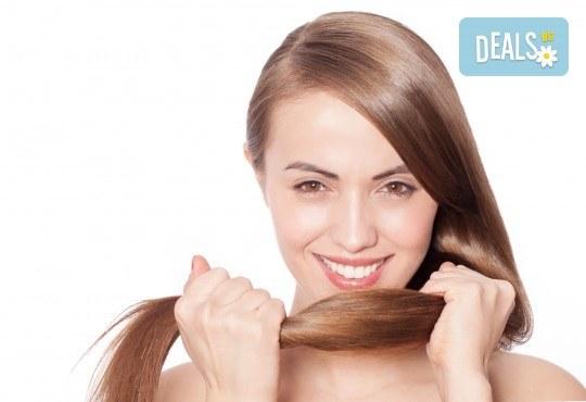 Подстригване, масажно втриване на ампула според нуждите на косата или термотерапия + оформяне със сешоар в салон Ванеси! - Снимка 1