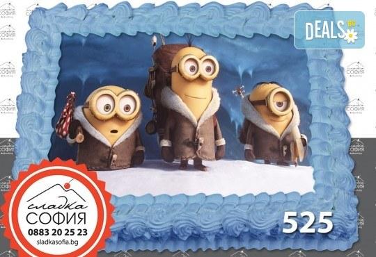 Детска торта с картинка на любим герой и включена доставка от Сладка София! - Снимка 17