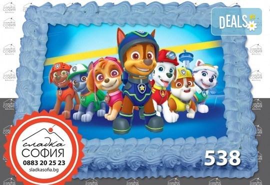 Детска торта с картинка на любим герой и включена доставка от Сладка София! - Снимка 8