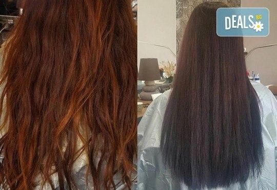 Кератинова терапия с продукти на JOIKO, бонус: подстригване на връхчета и изправяне на косата в салон за красота Мария Везенкова! - Снимка 4