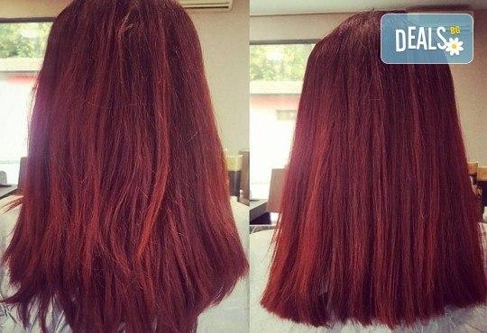 Кератинова терапия с продукти на JOIKO, бонус: подстригване на връхчета и изправяне на косата в салон за красота Мария Везенкова! - Снимка 3