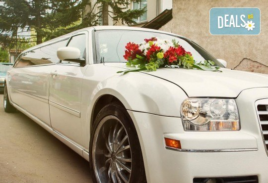 10-часов наем на лимузина Крайслер за Вашата сватба, San Diego