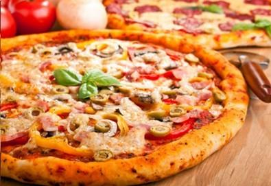 Вечеря за ДВАМА в италиански стил: ДВЕ пици (голяма и малка) от Ресторанти Златна круша