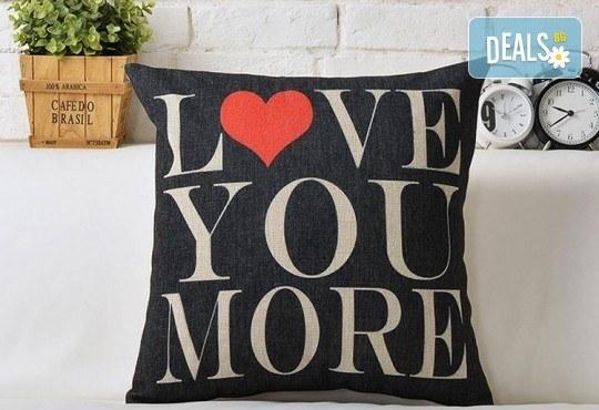Подарък за любим човек! Декоративна възглавничка сърце със снимка или квадрат 40х40 см. от Studio SVR Design! - Снимка 6