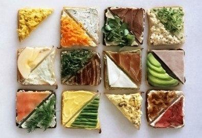 За Вашето парти! 45 броя сандвичи микс от H&D catering, София - с възможна доставка до Вашия дом + бонус: 30 бр. кокосови топки