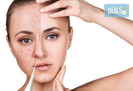 Почистване на лице с продукти на Profi Derm в салон за красота Cuatro