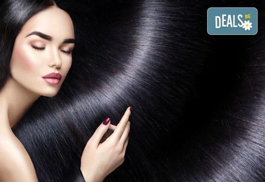 Tерапия с ампулa Milk Shake Integrity, масажно измиване и оформяне на косата със сешоар при стилист в Салон за красота B Beauty! - Снимка 3