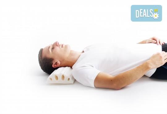 За спокоен сън вземете ортопедична възглавница от Detensor с възможност за доставка! - Снимка 8
