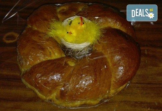 Козунак за Великден в 7 пакета със стафиди, локум, плодове, шоколад, декорация и мармалад от Работилница за кусотии Рави! - Снимка 7