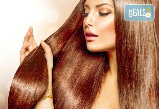 ''Полиране'' на коса, терапия според типа и състоянието й и подсушаване в салон Женско царство, Студентски град! - Снимка 1