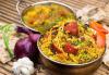 Салата и основно ястие по избор от цялото меню, чаша вино, традиционен индийски хляб и кана вода в индийски ресторант Spice House! - thumb 2