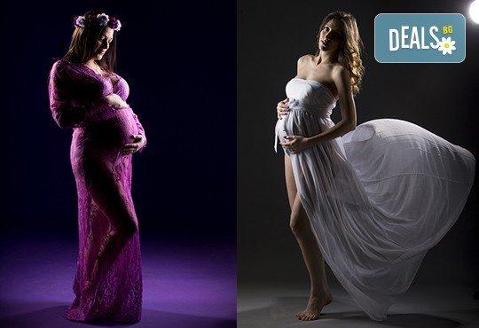 60-минутна фотосесия за бременни в студио с аксесоари и ефекти в Chapkanov photography