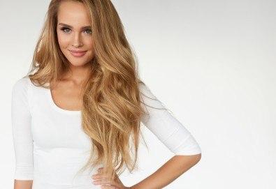 Слънце в косите! Балеаж с продукти на Matrix, подстригване, матиране и оформяне със сешоар в салон за красота Bella Style! - Снимка