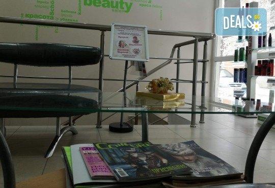 Подстригване с гореща ножица, масажно измиване,терапия в 3 стъпки и изправяне с арганова преса в салон Женско Царство в Центъра или Студентски град! - Снимка 7